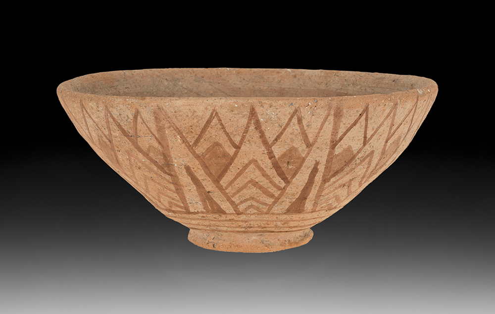 BOWL WITH LOTUS DESIGN